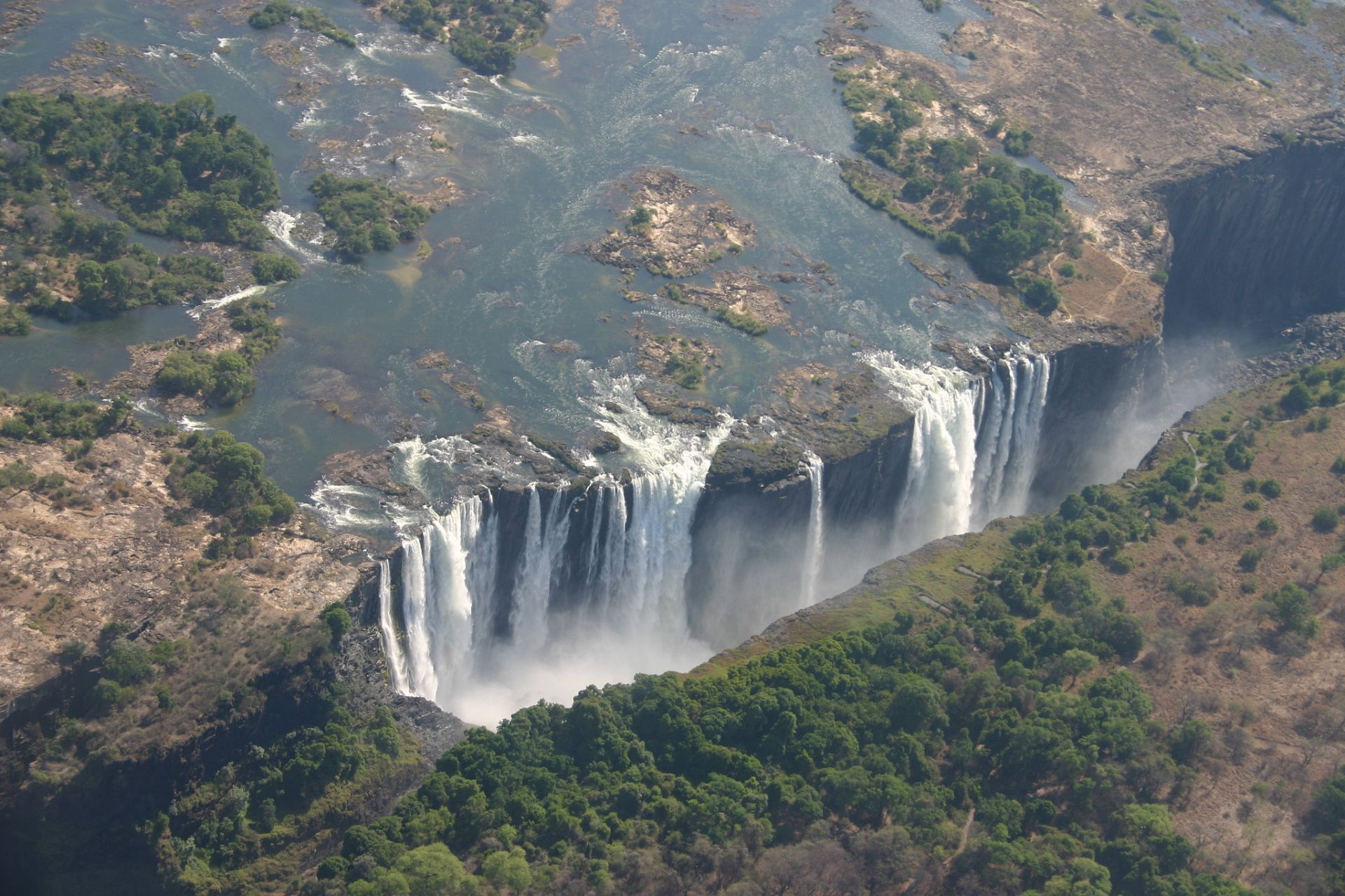 The breathtaking Victoria Falls In Zimbabwe